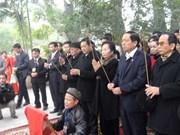 越南国家副主席在泾阳王寺敬香并击鼓开庙