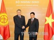 越南外长范平明会见吉尔吉斯斯坦外长