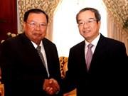 老挝国家副主席会见越南国家主席办公厅代表团