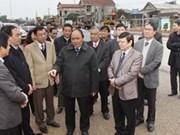 阮春福副总理莅临广治省调研