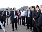 越南国家主席张晋创赴平定省调研