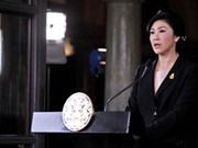 看守总理英拉离开曼谷办公