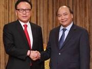 阮春福副总理接见越南驻韩国名誉总领事