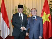 国会主席阮生雄同印尼人民协商会议主席进行会谈