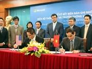 越南与微软集团加大信息技术合作力度
