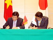 越日就提升两国关系水平发表联合声明