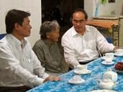 越南祖国阵线中央委员会主席阮善仁莅临宁顺省调研
