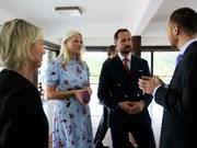 挪威王储圆满结束对越南进行的正式访问