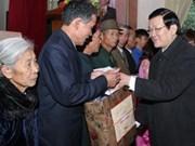 越南国家主席张晋创探访宜安省首个文明乡