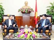 越南政府副总理兼外交部长范平明会见日本驻越大使