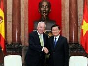 越南国家主席会见西班牙外交部长