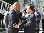 阮晋勇总理会见海地总统米歇尔·马尔泰利