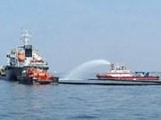 新加坡和马来西亚进行海上化学品泄露应急演习