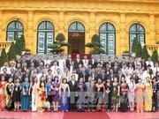 越南国家副主席阮氏缘会见模范企业家代表团