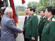 冯光青大将会见援越中国顾问专家家属及两国将军阮山家属代表团