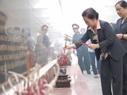 越南国家副主席阮氏缘女士莅临奠边省调研