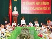 阮晋勇总理:将芹苴市成为九龙江三角洲地区发展引擎