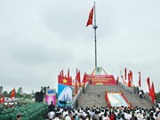 越南广治省隆重举行国家统一升旗仪式