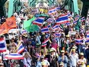 """泰反政府示威者前往市中心游行开始""""最后对决"""""""