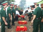 广治省为在老挝牺牲烈士举行追掉会和安葬仪式