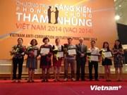 2014年越南反腐倡议计划:19项最佳项目获奖