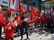 旅加拿大越南人举行游行活动 反对中国非法行为