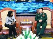 越南国防部长会见联合国副秘书长