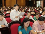 越南第十三届国会第七次会议进入第七天