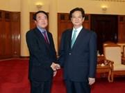阮晋勇总理会见韩联社社长宋炫升