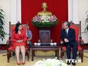 越共中央书记处书记陈国旺会见古巴共青盟中央代表团