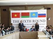 越南与俄白哈海关联盟自由贸易协定第6轮谈判结束