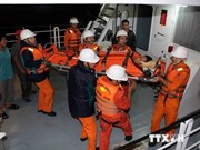 越南广治省海上遇难6名渔民获救