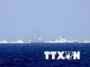 现场报道:中方船舰分两圈阻挡越南渔检船执法