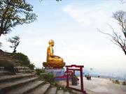 越南广宁省的安子名山