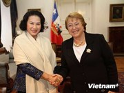 越南国会副主席阮氏金银访问智利