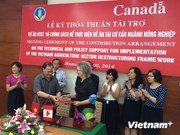加拿大资助越南加快工业结构调整进程