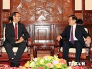 越南国家主席张晋创会见荷兰驻越大使