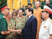 越南国家主席张晋创会见356师退伍军人