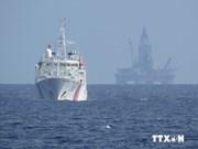 中国海洋石油981钻井平台正在转移