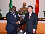 政府副总理兼外交部长范平明会见赞比亚外交部长卡拉巴