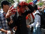 柬埔寨5名反对党议员被指控举行暴力示威活动
