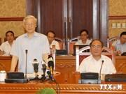 阮富仲总书记主持召开越共十二大文件起草小组会议