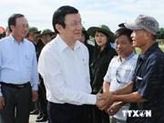 越南国家主席张晋创视察海防市白龙尾岛县