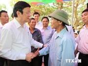 越南国家主席张晋创在广宁省调研指导工作
