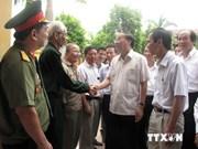 越共中央组织部部长苏辉瑞走访河南省金榜县伤兵疗养所