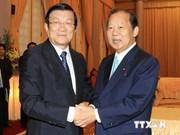 越南国家主席张晋创会见日本国会众议院预算委员会代表团