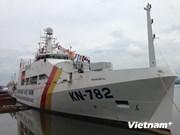 越南自主建造KN-782号渔检船转交服役越南渔检力量