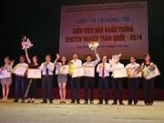 越南戏剧艺术家协会向从剧年轻演员颁发6枚金牌