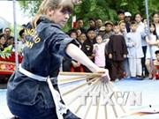 第四届越南平定国际传统武术节:热闹非凡的街头武术文化节