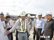 越南政府副总理黄中海视察胡志明市市内地铁项目